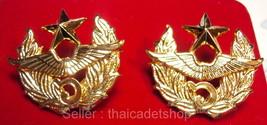 Wing6 Royal Thai Air Force Donmoung Bangkok COLLAR Military Medal insignia. - $2.97