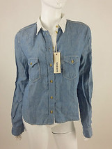 Diesel New Women's Soncy Denim Long Sleeve Shirt Size M Color Blue 100% ... - $58.10