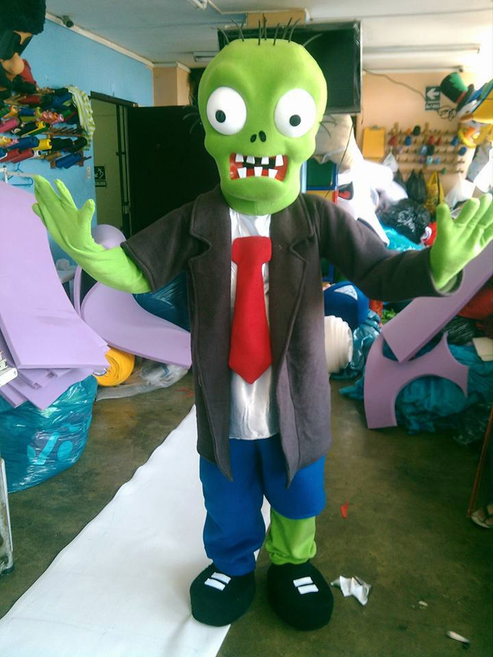 Plants vs Zombies / Zombie Mascot Costume Adult Character Costume