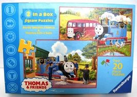 Ravensburger 2 In a Box Thomas & Friends Two 20 Piece Jigsaw Puzzles EUC    - $10.90