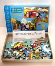 Ravensburger 2 In a Box Thomas & Friends Two 20 Piece Jigsaw Puzzles EUC    image 2