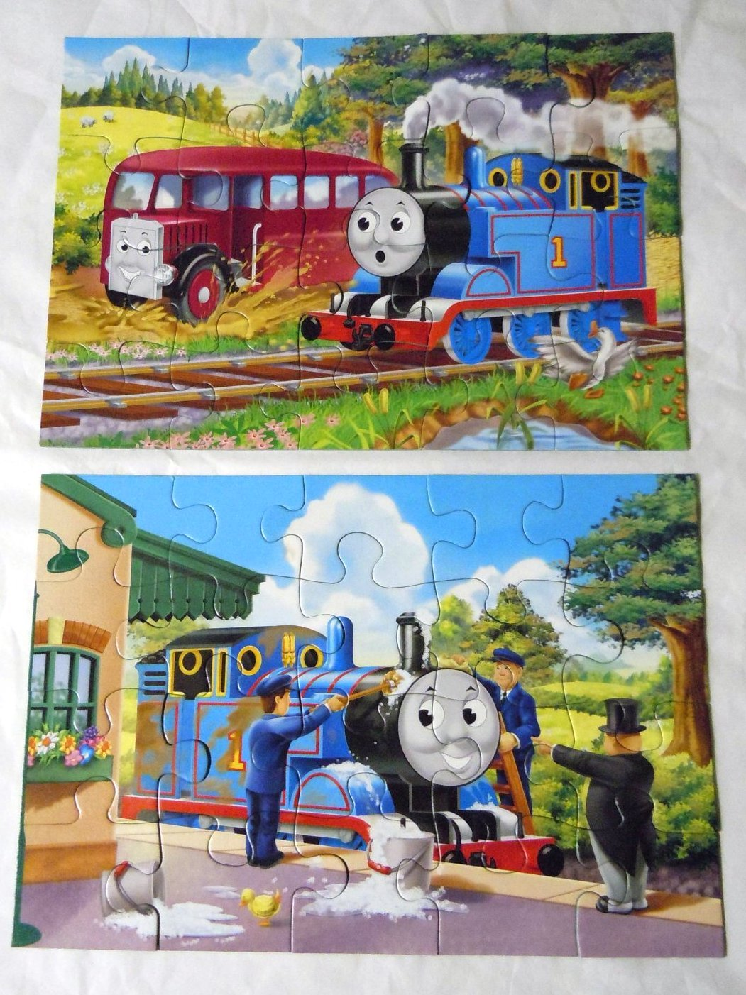 Ravensburger 2 In a Box Thomas & Friends Two 20 Piece Jigsaw Puzzles EUC    image 3