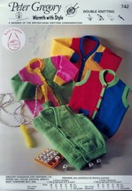 Knitting Patterns Set of 4 - Patons, Bernat, Crucci - Childrens Patterns - $12.50