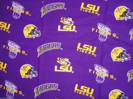 LSU Tigers Louisana State Toss Fabric Hair Scrunchie Scrunchies by Sherry NCAA - $6.99
