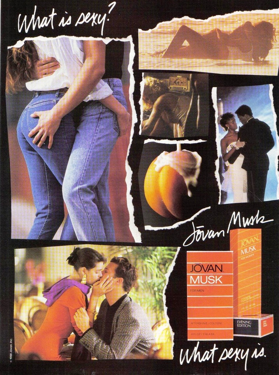 1988 Jovan Musk For Men Full Page Original Color Print Ad  What Is Sexy?  NM