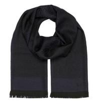 Versace Collection Men's Navy Blue Medusa Geometric 100% Wool Scarf - $123.75