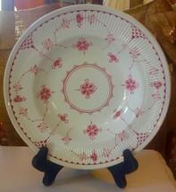 """Furnivals Denmark Pink Large Rimmed Soup Bowl 9"""" England"""