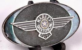 Harley Davidson Belt Buckle-Motorcycle-Made in USA-Stamped-Vtg 1992 - $28.04