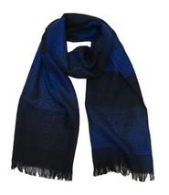Versace Collection Men's Blue Medusa Logo Ombre 100% Wool Scarf - $123.75