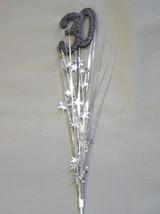 3 Pcs 30th Birthday Anniversary silver - black Onion Grass Spray Metallic Pick - $7.91