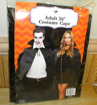 "56"" Halloween Costume Vampire/Magician Black Cape Adult Ages 12+  - $19.33"