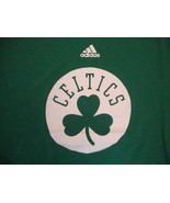 NBA Boston Celtics Basketball Adidas Fan Apparel Sportswear Green T Shir... - $17.51