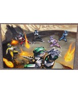 Power Rangers Glossy Art Print 11 x 17 In Hard Plastic Sleeve - $24.99