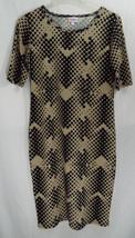 LuLaRoe Women's Julia Dress Beige with Black Polka Dots in MEDIUM   NWT - $42.07