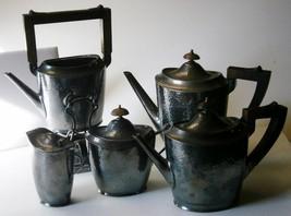 Meriden Silverplate 5 Piece Arts and Crafts Tea... - $247.50
