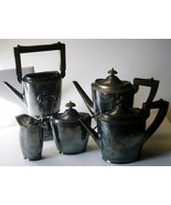 Meriden Silverplate 5 Piece Arts and Crafts Tea... - $247.50