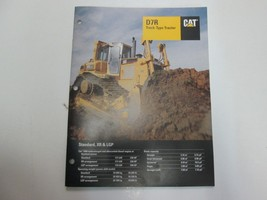 Caterpillar D7R Track-Type Tractor Standard XR LGP Sales Brochure Manual... - $19.75