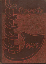 Wichita Falls, Texas High School Yearbook, 1951 Coyote - $27.23