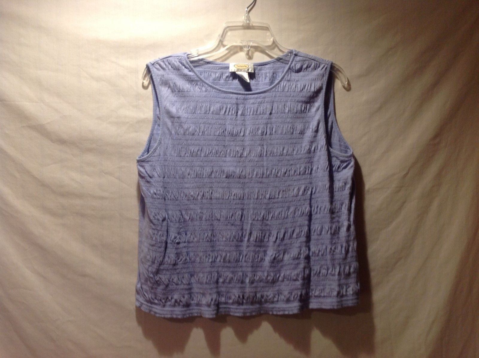 Talbots Lavender Purple Sleeveless Blouse/Tank Size Petite Large