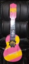 Soprano Ukulele Cozumel Mexico Pink/Yellow Souvenier image 1