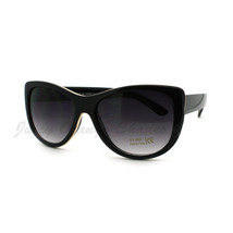Women's Sunglasses Metal Outlined Subtle Cateye Frame UV 400 - $7.95