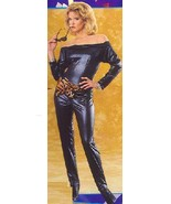 BLACK ONE PIECE CATSUIT BODYSUIT ADULT SMALL - $20.00