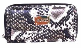 Kenneth Cole Women URBAN ORGANIZER Faux Python Leather Ladies WALLET Bla... - $21.55