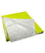 LARGE LIME GREEN SILVER POLARSHIELD CAMPING HUNTING RESCUE WARM SURVIVAL... - $10.01 CAD