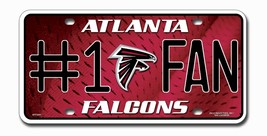 Atlanta Falcons License Plate - #1 Fan - $16.77