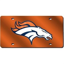 Denver Broncos Laser Cut Orange License Plate - $31.02