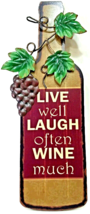 Wine Chef French Italian Live Well Laugh Often Wall Plaque Home Decor - $19.00