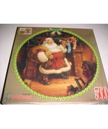 """The Night Before Christmas Corkboard Puzzle Rose Art 500 Piece 19"""" Diame... - $29.69"""