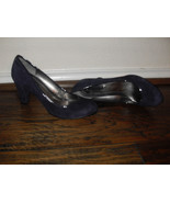 Bandolino New Adiva Purple Suede Piping Heels Pumps Shoes  Medium ( B,M ... - $28.99