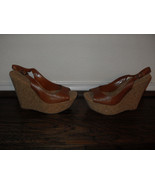 Jessica Simpson New Brown Leather Slingback Heels Shoes  Medium ( B, M )... - $31.99