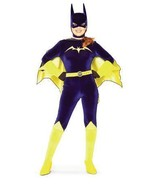 BATGIRL COSTUME STRETCH VELVET JUMPSUIT SIZE MEDIUM - $55.00