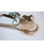3 Wire Keychains USA Mechanics EDC for keys Aircraft Cable Stainless Ste... - $4.95