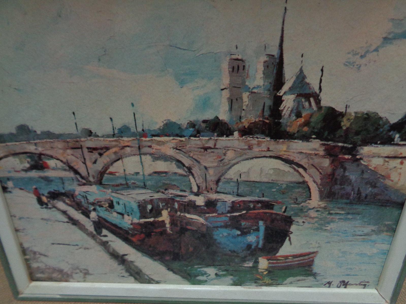 LITHO PRINT Vintage M. Martin Bridges