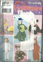 Simplicity 4859, Toddlers Costumes, Size:1/2, 1, 2, 3, 4 - $11.76