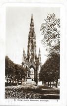 Sir Walter Scott's Monument, Edinburgh 1920's - Scotland postcard - $2.75