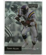 1993 Playoff Terry Allen Brett Favre ERROR Wrong Back Favre Error Packers - $98.99