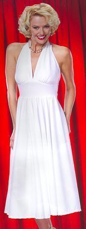 50'S STARLET WHITE DRESS IN SZ 6-8 WOW!!