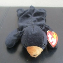 Ty Beanie Baby Blackie the Black Bear 2 Tag Errors NEW - $19.79