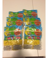 LOT OF 6~Unique yellow Helium 9 inch Balloons  20 count per pack =120 ba... - $10.88