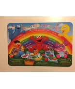 6x Sesame Street Colorful Fun Learning Colors Placemats~IN ENG,SPAN&FRENCH - $24.74