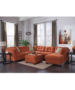 PARKWAY - Large Orange Microfiber Living Room S... - $1,535.78