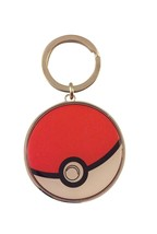 Pokemon Go Pokeball Enamel Finished Metal Keychain Key Ring  - $4.94