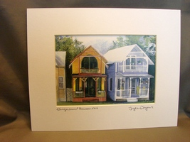 Cape Cod Lovers: Martha's Vineyard Matted Print by Tyler Poyant East War... - $10.99