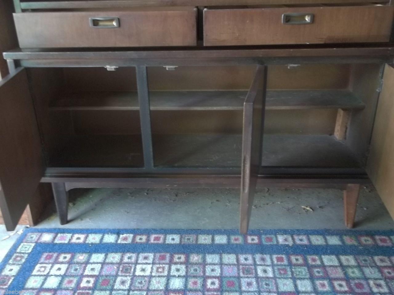 Vintage Mid Century Modern Garrison Furniture Co Walnut Hutch Danish Eames Era Mid Century