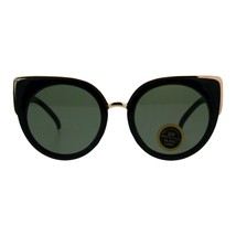 Impact Resistant Flat Glass Lens Sunglasses Womens Oversized Round Cateye - $11.95