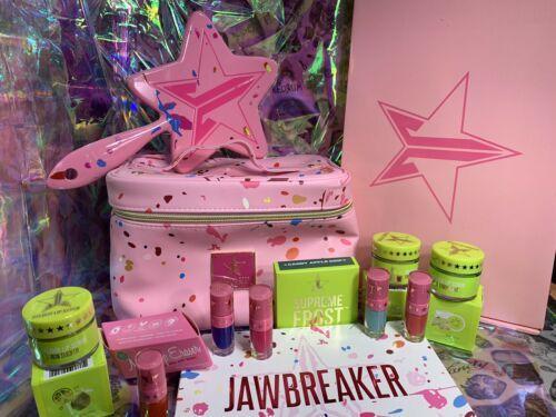 HUGE Jeffree Star Jawbreaker Lot Liquid Lip Train Case Mirror Supreme Frost BNIB